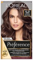 L'Oréal -Préférence - 6.21 ZURICH- Permanent coloring - Cold iridescent very light brown