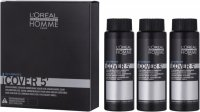 L'Oréal Professionnel - HOMME - COVER 5 '- Gel for hair coloring for men - 3 x 50 ml