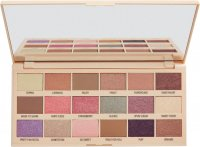 I Heart Revolution - MAKE UP PIGMENT PALETTE - COTTON CANDY - Palette of 18 eye shadows - (CHOCOLATE WITH SUGAR WADDING)