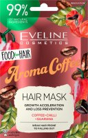 EVELINE - Food for Hair - Growth Acceleration and Loss Prevention Hair Mask - Regenerating mask for weak and falling out hair - Aroma Coffee - 20 ml