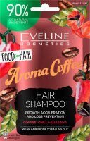 EVELINE - Food for Hair -Growth Acceleration and Loss Prevention Hair Shampoo - Regenerating shampoo for weak and falling out hair - Aroma Coffee - 20 ml
