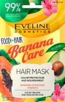 EVELINE - Food for Hair - Nourishing Hair Mask - Nourishing mask for colored hair, with highlights and damaged hair - Banana Care - 20 ml
