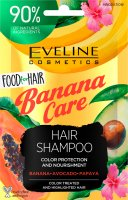 EVELINE - Food for Hair - Nourishing Shampoo - Nourishing shampoo for colored and damaged hair - Banana Care - 20 ml