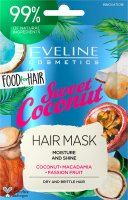EVELINE - Food for Hair - Moisture And Shine Hair Mask - Moisturizing mask for dry and brittle hair - Sweet Coconut - 20 ml