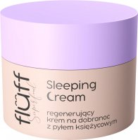 FLUFF - Superfoods - Sleeping Cream - Regenerating bedtime face cream with moon lotion - 50 ml