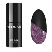 NeoNail - TOP GLOW - UV GEL POLISH - Top / topcoat with shiny particles - 7.2 ml - ART. 7809-7 - TOP GLOW SPARKLING