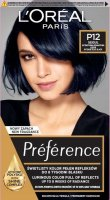 L'Oréal - Préférence - Permanent Haircolor P12 - SEOUL - INTENSE BLUE BLACK - Hair dye - Permanent coloring - Intense Navy Blue Black