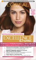 L'Oréal - EXCELLENCE Creme - Hair coloring with triple care - 4.54 Mahogany-Copper Bronze