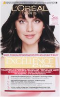 L'Oréal - EXCELLENCE Creme - Hair coloring with triple care - 300 Dark Brown