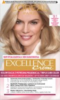 L'Oréal - EXCELLENCE Creme - Hair coloring with triple care - 9.1 Very Light Ash Blonde