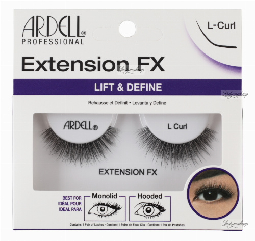 ARDELL - Extension FX - Artificial strip eyelashes - L-Curl