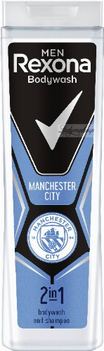 Rexona - Men - Bodywash and Shampoo 2in1 - Football Edition - 2in1 shower gel and shampoo for men - Manchester City - 400 ml