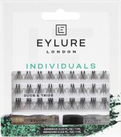 EYLURE - INDIVIDUALS LASH - DUOS & TRIOS - ADHESIVE & REMOVER INCLUDED - Eyelash clusters with glue and remover
