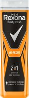 Rexona - Men - Bodywash and Shampoo 2in1 - Shower gel and shampoo 2in1 for men - Workout - 400 ml