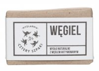 Mydlarnia Cztery Szpaki - Natural soap with activated charcoal- Coal - 110 g