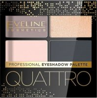 EVELINE - QUATTRO - Professional Eyeshadow Palette - Palette of 4 eye shadows - 3.2 g