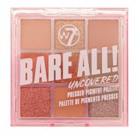 W7 - BARE ALL - PRESSED PIGMENT PALETTE - Palette of 9 eyeshadows - UNCOVERED