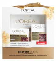 L'Oréal - AGE EXPERT - Gift set of face care cosmetics - Triple Power 50+ day cream + Triple power 50+ Eye cream + Sheet mask