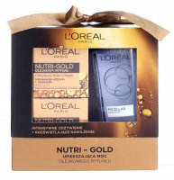 L'Oréal - NUTRI-GOLD - Gift set of face care cosmetics - Face cream-oil 50 ml + Night cream-mask 50 ml + Micellar liquid 200 ml