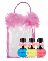 VIPERA - Tutu Set - Gift set of 3 Peel Off nail polishes for children in a cosmetic bag - 15