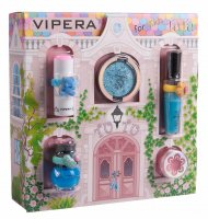 VIPERA - Magic Tutu Collection - Gift set of 5 cosmetics for children + House - 04 Turquoise Pointe