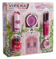 VIPERA - Magic Tutu Collection - Gift set of 5 cosmetics for children + House - 01 Scarlet Bow
