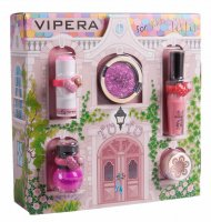 VIPERA - Magic Tutu Collection - Gift set of 5 cosmetics for children + House - 03 Pink Pirouette