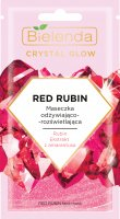 Bielenda - Crystal Glow - Red Rubin Face Mask - Nourishing and brightening face mask - 8 g