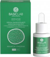 BASICLAB - ESTETICUS - Anti-blemish serum with 5% niacinamide, 5% prebiotic and rice water filtrate - Reduction and narrowing - Day / Night - 15 ml