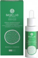 BASICLAB - ESTETICUS - Anti-blemish serum with 5% niacinamide, 5% prebiotic and a pink water filter - Reduction and narrowing - Day / Night - 30 ml