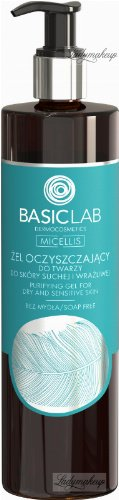 BASICLAB - MICELLIS - Face cleansing gel for dry and sensitive skin (no soap) - 300 ml