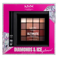 NYX Professional Makeup - DIAMONDS & ICE PLEASE! - SHADOW & LINER SET - Set of eye makeup cosmetics