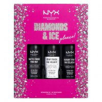 NYX Professional Makeup - DIAMONDS & ICE PLEASE! - SETTING SPRAY KIT - Gift set of mists for fixing make-up - 3x18ml