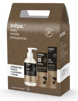Tołpa - Dermo Barber - Face care set for men - Facial cleansing gel with stubble and beard 150 ml + Face balm-gel 75 ml + Beard oil 40 ml