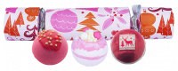 Bomb Cosmetics - Cracker Gift Pack - Candy-shaped gift set - WE WISH YOU A ROSY CHRISTMAS