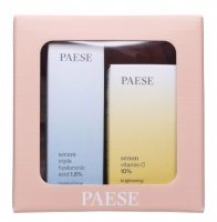 PAESE - Christmas set No. 1 - Serum with vitamin C, 15 ml + Serum with hyaluronic acid 30 ml