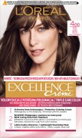 L'Oréal - EXCELLENCE Creme - Hair coloring with triple care - 400 Bronze Red