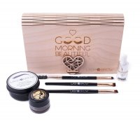 LashBrow - Gift set of eyebrow styling cosmetics in a wooden box