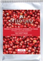 ORIENTANA - Natural silk face mask - Pomegranate and green tea