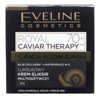 Eveline Cosmetics - ROYAL CAVIAR THERAPY 70+ - Luxurious face cream elixir with snail slime - Night - 50 ml