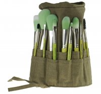 Bdellium tools - Green Bambu Series - Complete 15pc. Brush Set + Case