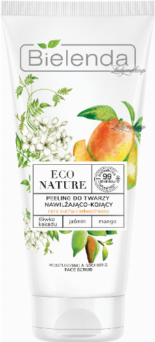 Bielenda - ECO NATURE - MOISTURIZING & SOOTHING FACE SCRUB - Moisturizing and soothing face peeling (dry and dehydrated skin) - 150 g