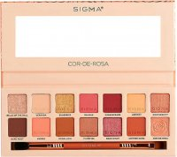 Sigma® - COR-DE-ROSA EYESHADOW PALETTE - Palette of 14 eyeshadows with a double brush