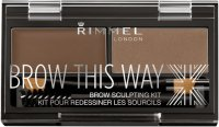 RIMMEL - BROW THIS WAY - BROW SCULPTING KIT - Eyebrow styling kit 2in1