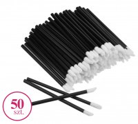Clavier - Set of velor applicators for lip gloss or lipstick - Black - 50 pieces