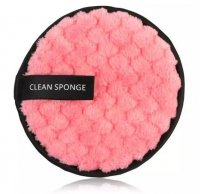 LashBrow - CLEAN SPONGE - Reusable cosmetic pad / Make-up remover sponge - Pink