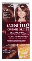 L'Oréal - Casting Créme Gloss - Caring color without ammonia - 554 Fiery Chocolate