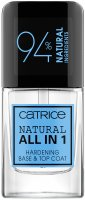 Catrice - NATURAL ALL IN ONE - HARDENING BASE & TOP COAT - Natural, hardening base and topcoat for nails - 10.5 ml