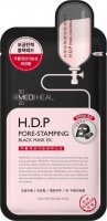 MEDIHEAL - H.D.P PORE-STAMPING BLACK MASK EX. - Black mask in a cleansing and tightening sheet - 25 ml