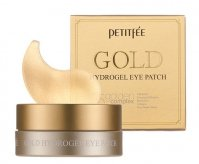 PETITFEE - Gold Hydrogel Eye Patch - Moisturizing and brightening, hydrogel eye pads with gold - 60 pieces